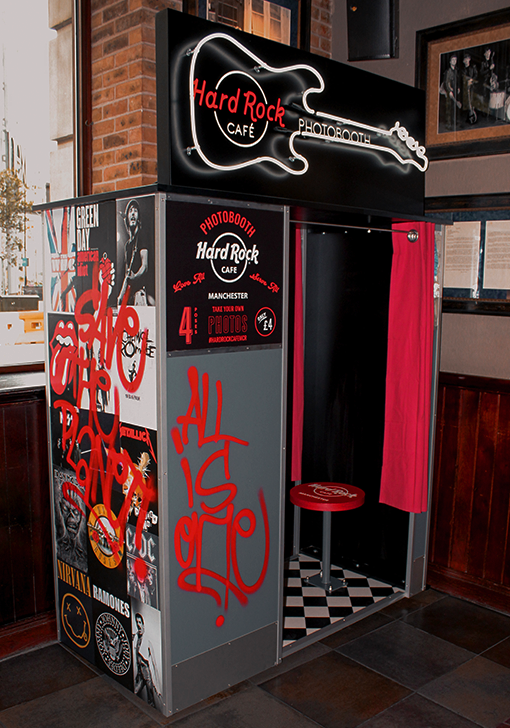 Hard Rock Cafe Photo Booth